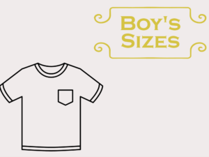 Patterns Sized for Boys