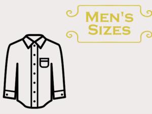 Patterns Sized for Men